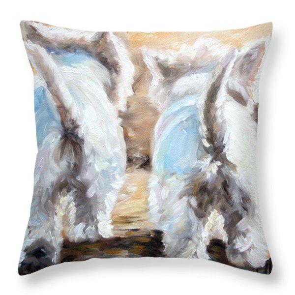 Farewell Throw Pillow by Mary Sparrow