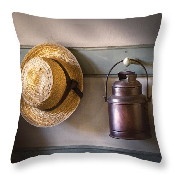Farm - Tool - The coat rack Throw Pillow by Mike Savad