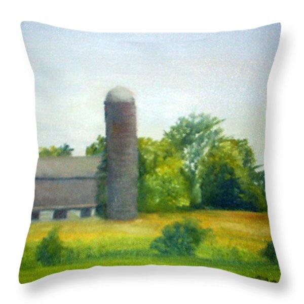 Farm In The Pine Barrens  Throw Pillow by Sheila Mashaw