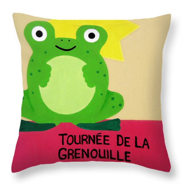 Fat Frog Best Throw Pillow by Oliver Johnston