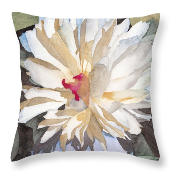 Feathery Flower Throw Pillow by Ken Powers