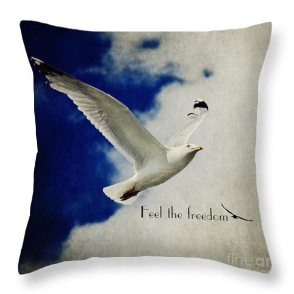 Feel The Freedom Throw Pillow by Angela Doelling AD DESIGN Photo and PhotoArt