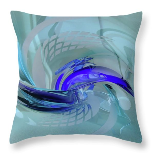 Feeling Tiffany Blue Throw Pillow by Donna Blackhall