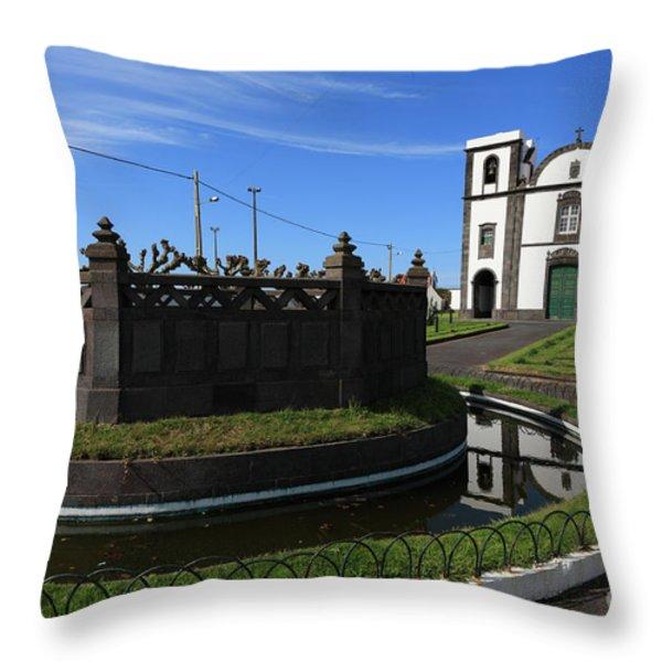 Fenais Da Ajuda - Azores Throw Pillow by Gaspar Avila