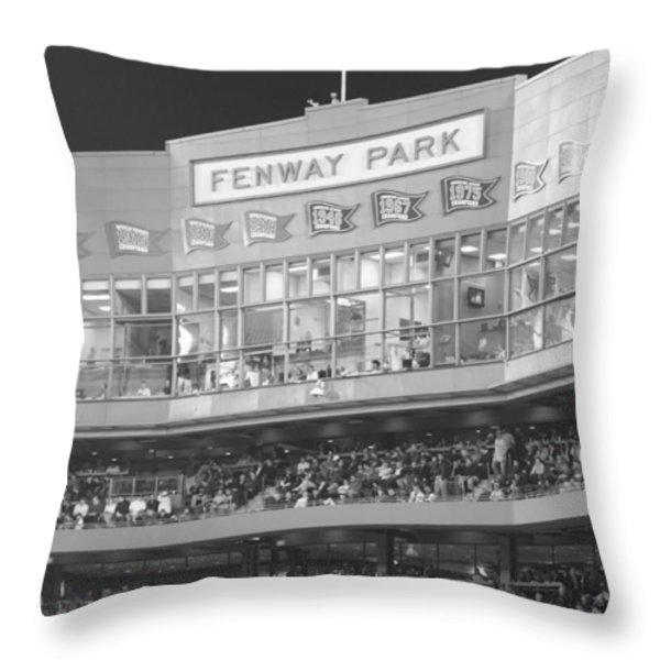 Fenway Park Throw Pillow by Lauri Novak