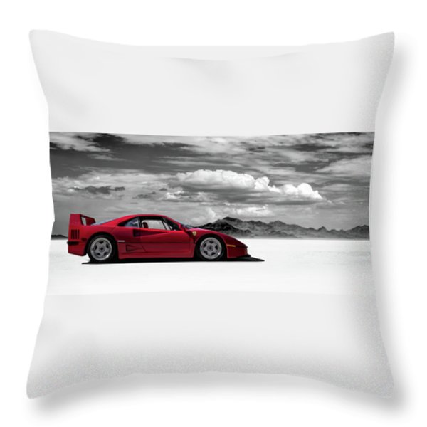 Ferrari F40 Throw Pillow by Douglas Pittman