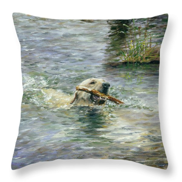 Fetch Throw Pillow by Doug Kreuger