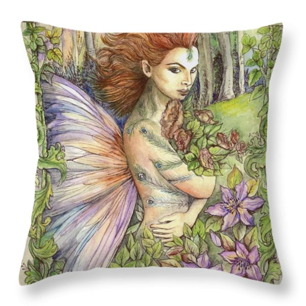 Fiary Collection 1 Throw Pillow by Morgan Fitzsimons