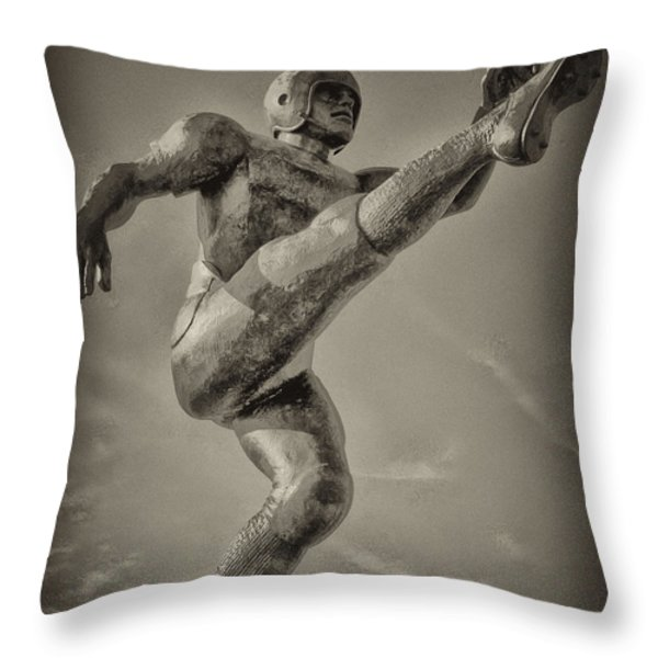 Field Goal Throw Pillow by Bill Cannon
