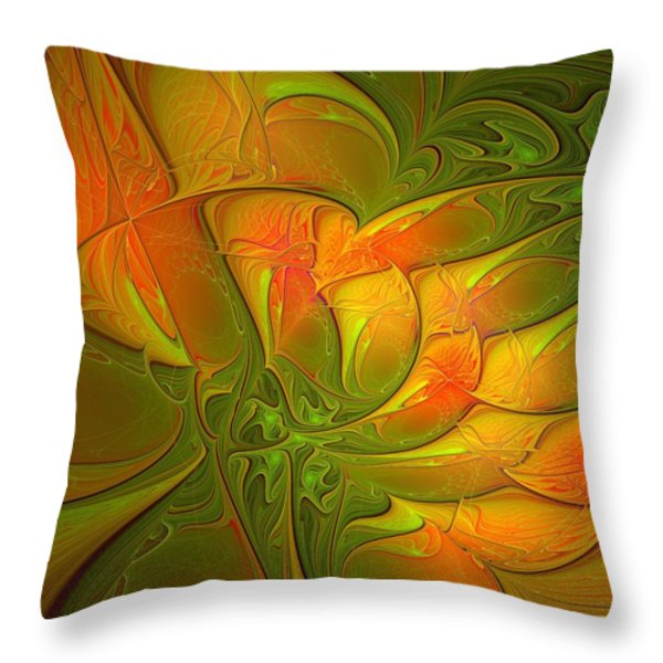 Fiery Glow Throw Pillow by Amanda Moore