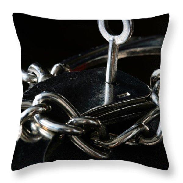 Fifty Shades of Steel  Throw Pillow by JC Findley
