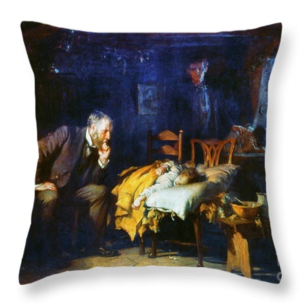 Fildes The Doctor 1891 Throw Pillow by Granger