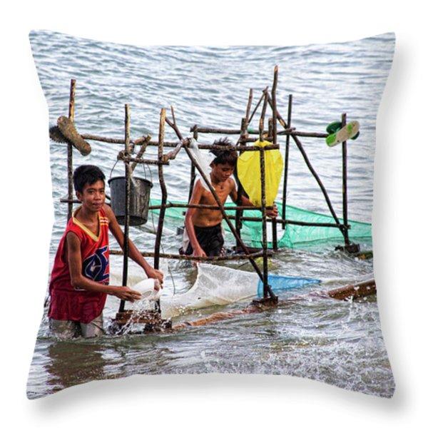 Filipino Fishing Throw Pillow by James BO  Insogna