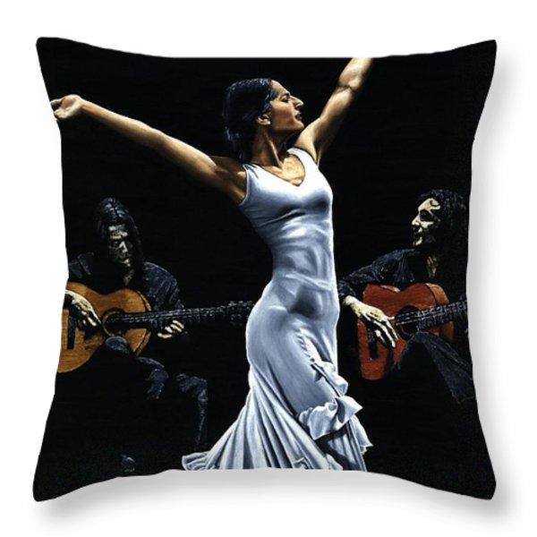 Finale del Funcionamiento del Flamenco Throw Pillow by Richard Young
