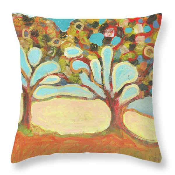 Finding Strength Together Throw Pillow by Jennifer Lommers