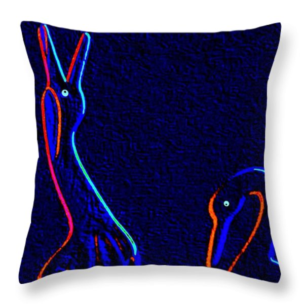 Fine Feathered Friends Throw Pillow by Will Borden