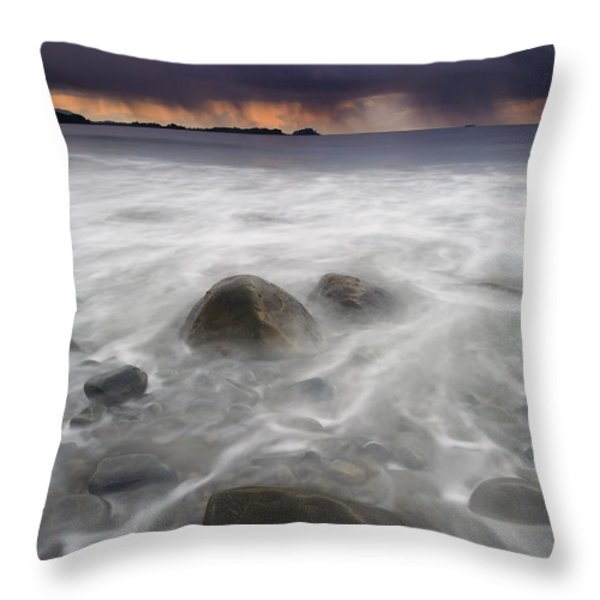 Fingers Of The Storm Throw Pillow by Mike  Dawson