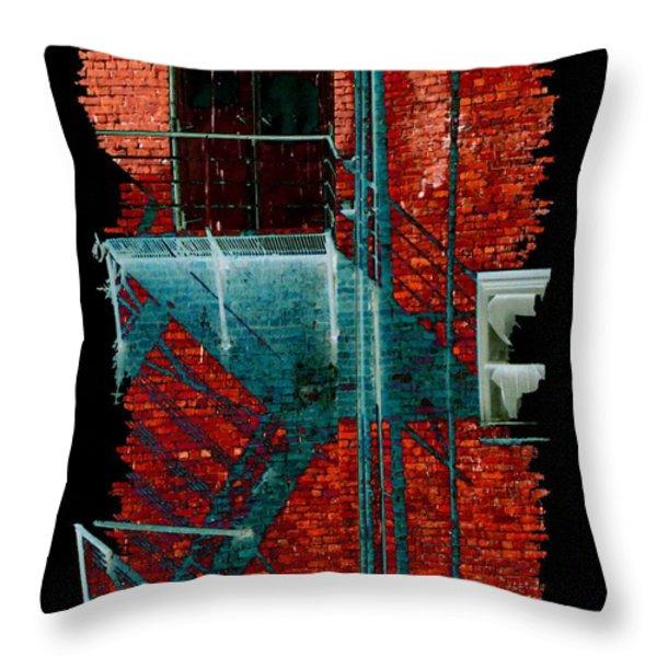 Fire Escape 7 Throw Pillow by Tim Allen