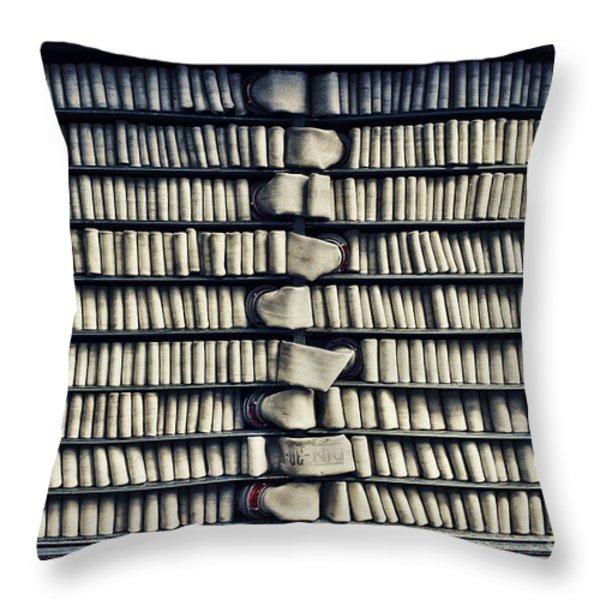 Fire Hose Throw Pillow by Jutta Maria Pusl