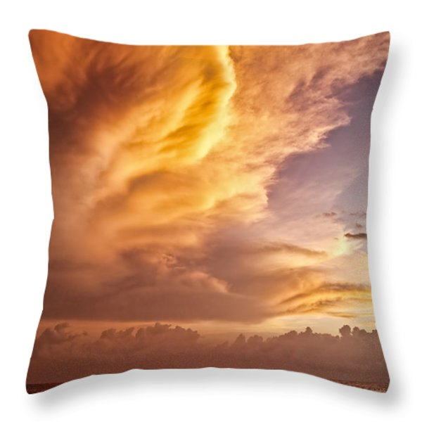 Fire in the Sky Throw Pillow by Dave Bowman