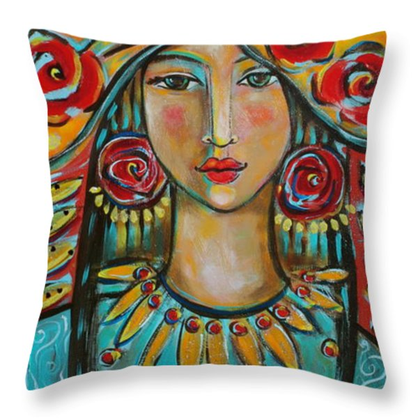 Fire Of The Spirit Throw Pillow by Shiloh Sophia McCloud