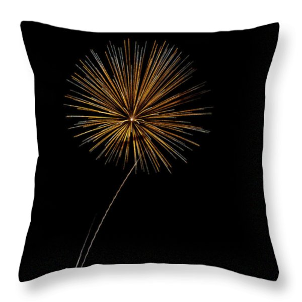 Fire Works Bursts Throw Pillow by Gary Langley