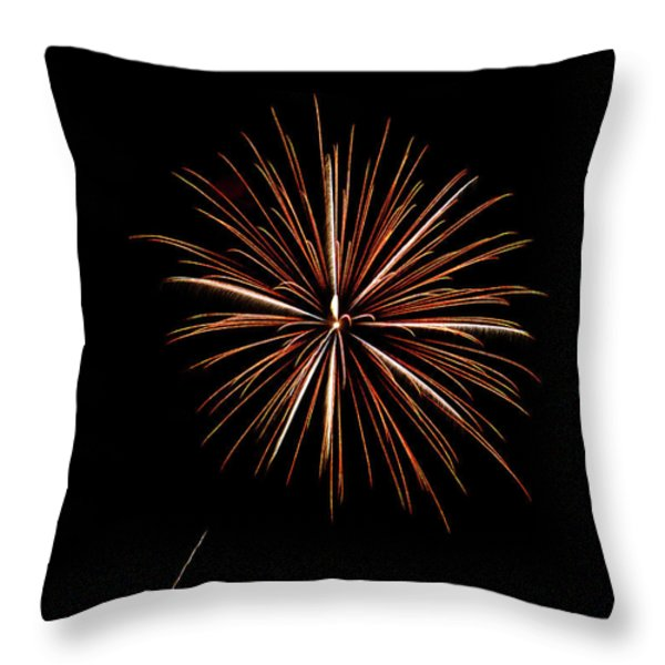 Fire Works Throw Pillow by Gary Langley