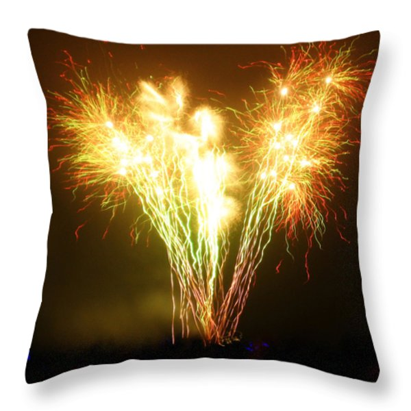 Fireworks 2 Throw Pillow by Oliver Johnston