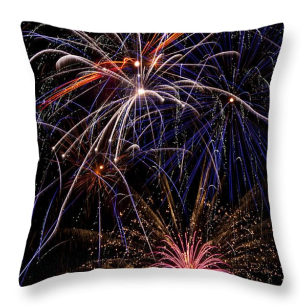 Fireworks Celebration  Throw Pillow by Garry Gay