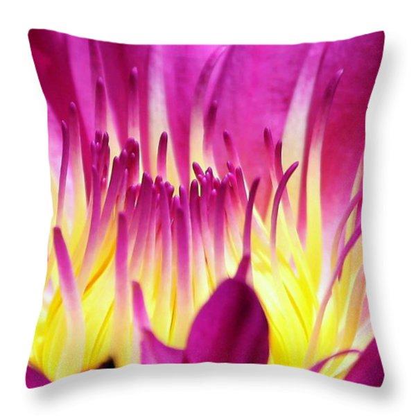 Firey Magenta Throw Pillow by Sabrina L Ryan