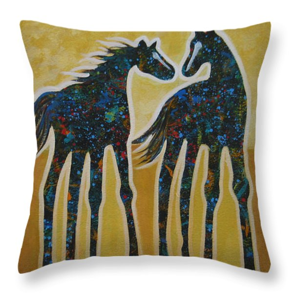 First Kiss Throw Pillow by Lance Headlee