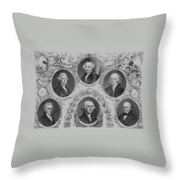 First Six U.s. Presidents Throw Pillow by War Is Hell Store