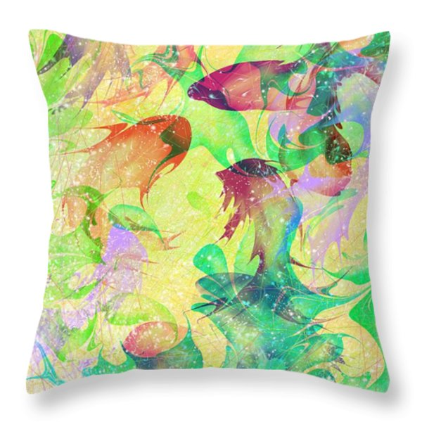 Fish Dreams Throw Pillow by Rachel Christine Nowicki
