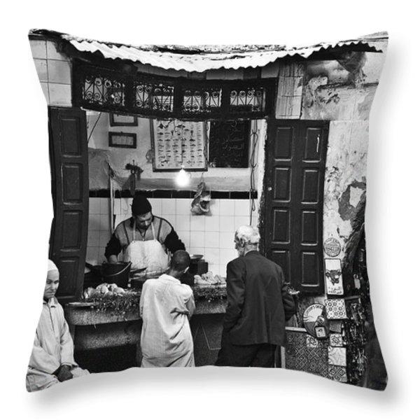Fish Shop Throw Pillow by Marion Galt