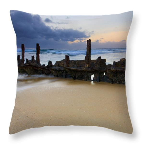 Fishing With History Throw Pillow by Mike  Dawson