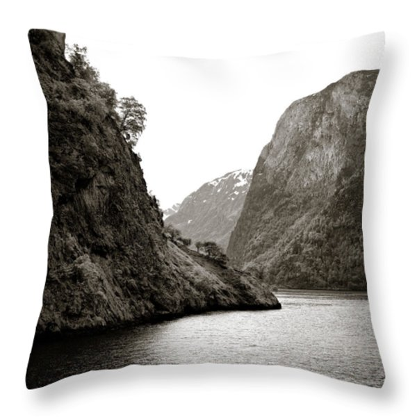 Fjord Beauty Throw Pillow by Dave Bowman