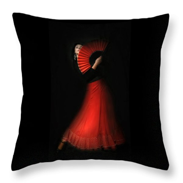Flamenco Throw Pillow by Viktor Korostynski