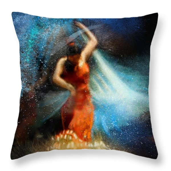 Flamencoscape 05 Throw Pillow by Miki De Goodaboom