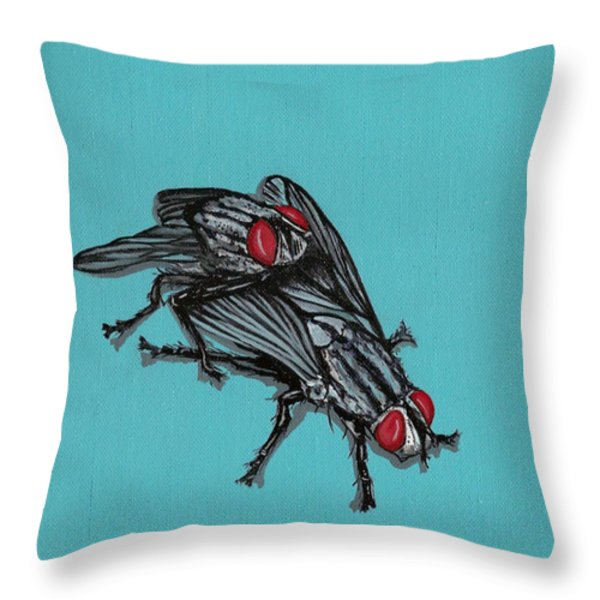Flies Throw Pillow by Jude Labuszewski