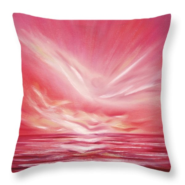 Throw Pillows - Flight at Sunset Throw Pillow by Gina De Gorna