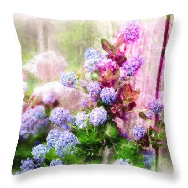 Floral Merge 11 Throw Pillow by Artzmakerz