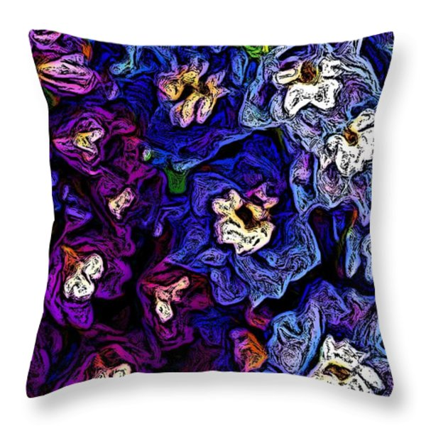 Flower Arrangement II Throw Pillow by David Lane