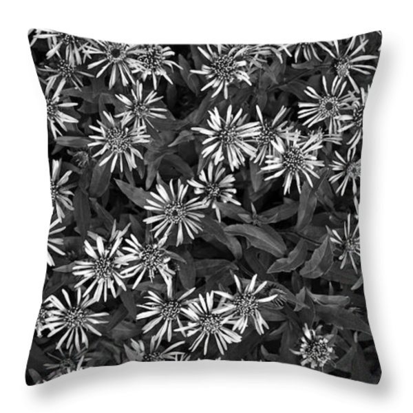 flower carpet Throw Pillow by Priska Wettstein