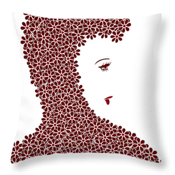 Flower Fashion Throw Pillow by Frank Tschakert