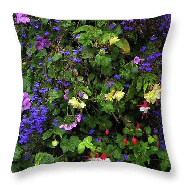 Flower Power Throw Pillow by Kurt Van Wagner