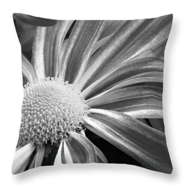 Flower Run through It Black and white Throw Pillow by James BO  Insogna