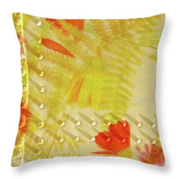 Flower Shower II Throw Pillow by Bonnie Bruno