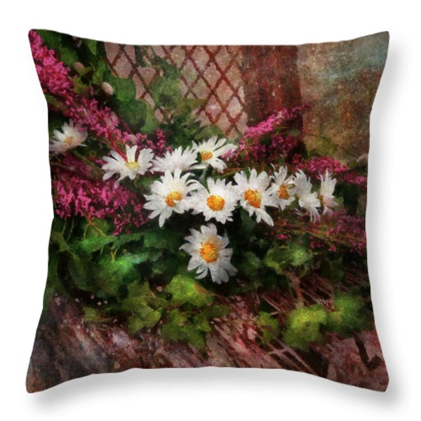 Flower - Still - Seat Reserved Throw Pillow by Mike Savad