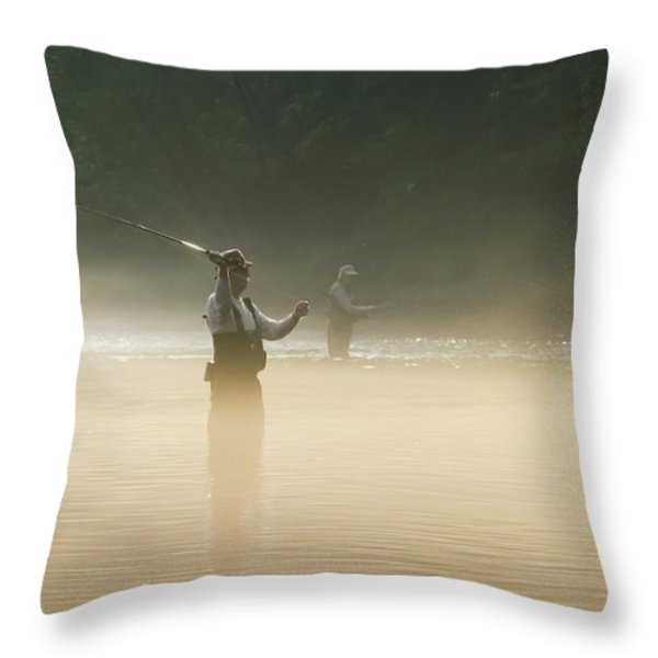 Fly Fishing  Throw Pillow by Betty LaRue