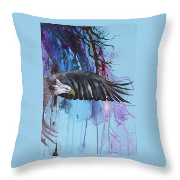 Flying High Throw Pillow by Larry  Johnson